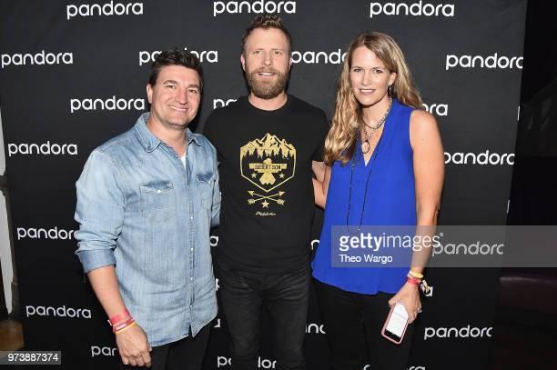 Pandora VP Industry Relations and Artist Marketing Jeff Zuchowski Dierks Bentley and Pandora Industry Relations Director Nashville Beville Dunkerley...