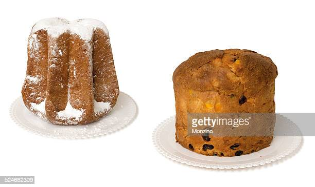 Pandoro and panettone