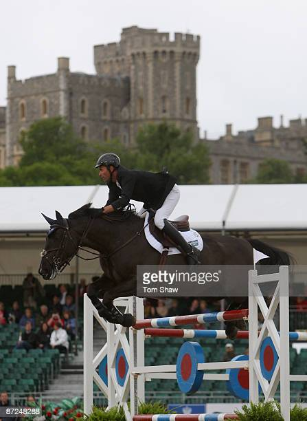 Pandur ridden by Graham Lovegrove in action during the Grade A Jumping Competition at the Royal Windsor Horse Show on May 15 2009 in Windsor England