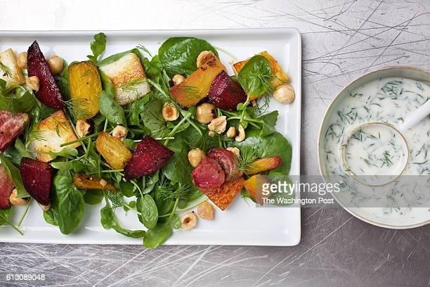 WASHINGTON DC Paneer and Roasted Beet Salad photographed in Washington DC