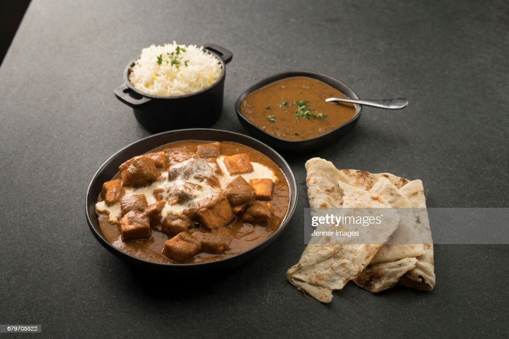 Paneer Butter Masala and Dal Makhani. : Stock Photo
