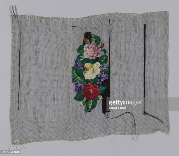 "Panel , 19th century, England or United States, England, Needle point ""Canvas"" tabby, 31.8 × 40.7 cm ."