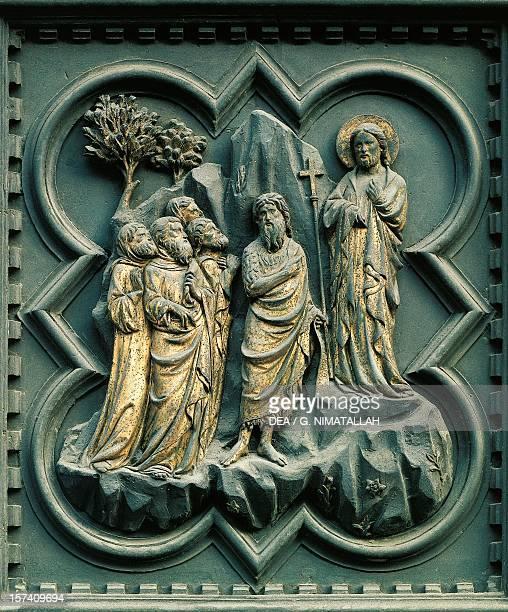 Panel by Andrea Pisano South Door Baptistery of San Giovanni Battista Florence Italy 14th century