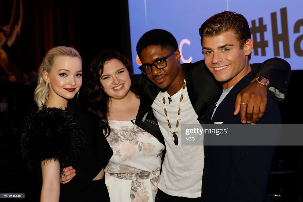 LIVE! -- 'FYC Panel Discussion and Reception' -- Pictured: (l-r) Dove Cameron, Maddie Baillio, Ephraim Sykes, Garrett Clayton at the Saban Media Center at the Television Academy, North Hollywood, CA --