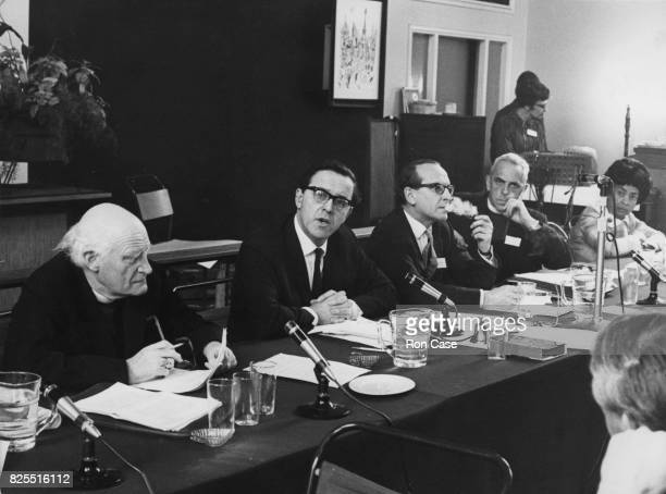 A panel discussion at the World Council of Churches Consultation on Race at Notting Hill Ecumenical Centre in London 21st May 1969 From left to right...
