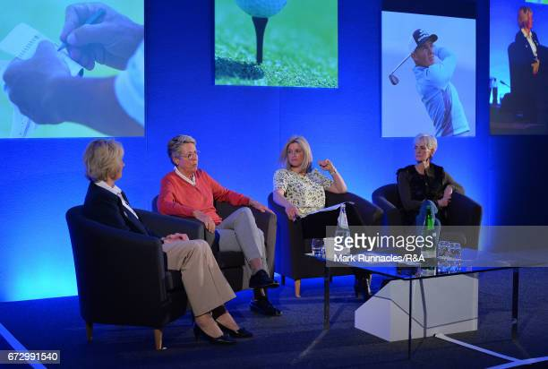 A panel discussion with Diane Bailey MBE LGU President Marta FiguerasDotti Women's British Open Champion and ViceCaptain of the 2017 European Solheim...