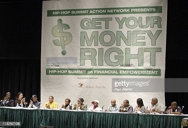 Panel during 2006 Hip Hop Summit Sponsored By Chrysler Financial at Wayne State University's Bonstelle Theatre in Detroit Michigan United States