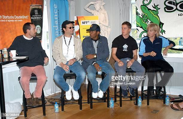 Panel from left to right Jace Alexander Scott Kramer Mos Def David Gordon Greene and Olympia Dukakis
