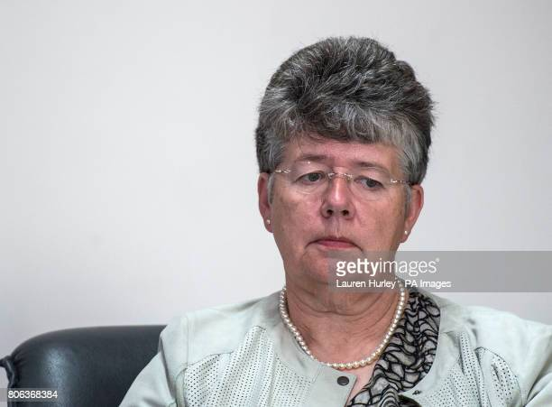 Panel member Alyson Leslie during a press conference after the publication of the final report of the Independent Jersey Care Inquiry into historical...