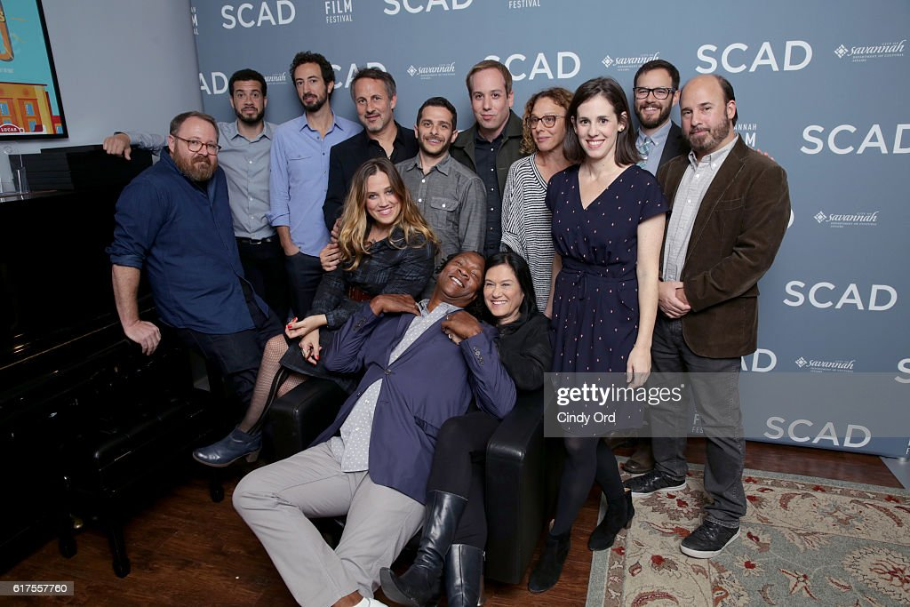 Panel members pose for a portrait backstage at the Docs to Watch Panel during the 19th Annual Savannah Film Festival presented by SCAD on October 23, 2016 in Savannah, Georgia.
