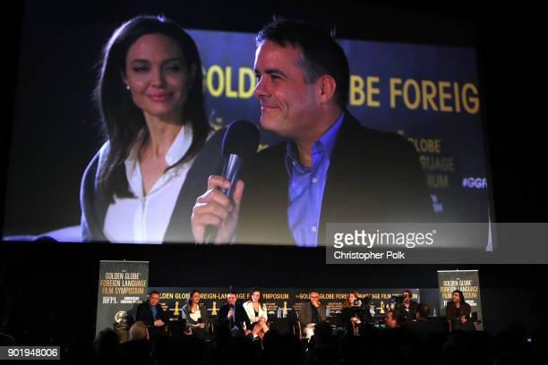 Panel moderator Mike Goodridge Directors Angelina Jolie Sebastian Lelio actress Daniela Vega director Andrey Zvyagintsev guest directors Ruben...