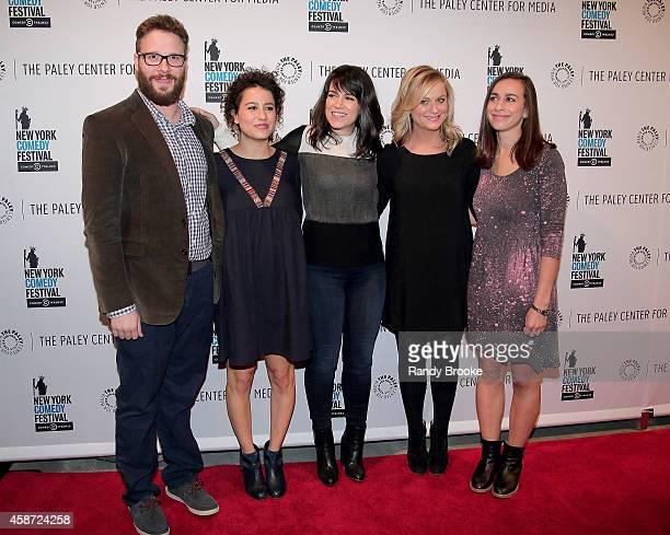 Panel Moderator Seth Rogen show creators/stars Ilana Glazer and Abbi Jacobson Executive Producer Amy Poehler and show Director Lucia Aniello attend...