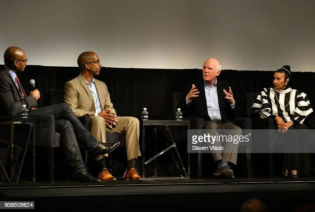 Panel moderator/journalist Charles Blow author/executive producer Trey Ellis author/executive producer Taylor Branch and Civil Rights activist...
