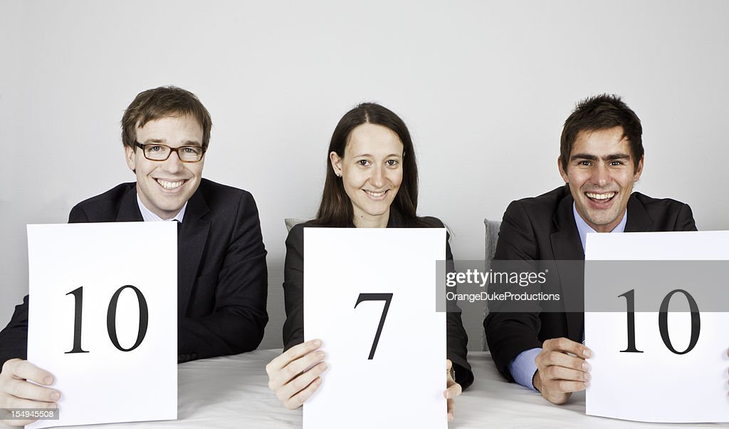 Panel of Judges with very good score! : Stock Photo