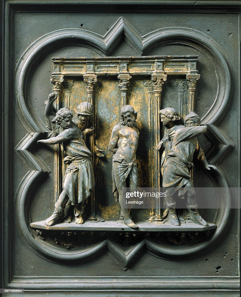 The Flagellation of Christ by Lorenzo Ghiberti & The Flagellation of Christ by Lorenzo Ghiberti Pictures | Getty Images