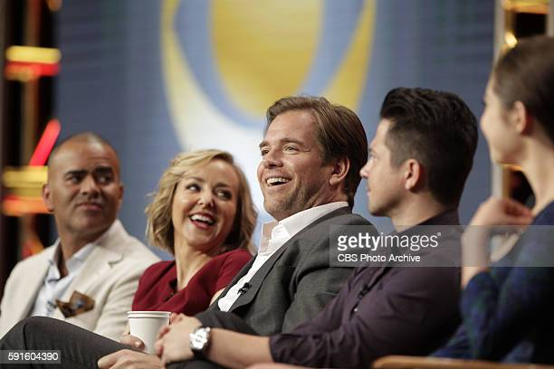 Panel session for the new CBS show BULL at the TCA presentations at the Beverly Hilton Hotel in Los Angeles August 10 2016 Pictured Christopher...