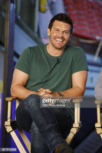 Panel session for the new CBS show SEAL TEAM at the TCA presentations at CBS Studio Center in Los Angeles August 1 2017 Pictured David Boreanaz