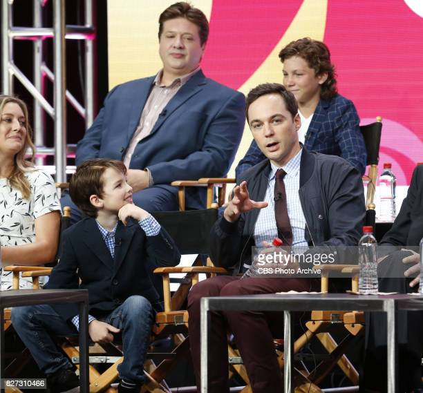 Panel session for the new CBS show YOUNG SHELDON at the TCA presentations at the Beverly Hilton Hotel in Los Angeles August 1 2017 Pictured Front row...