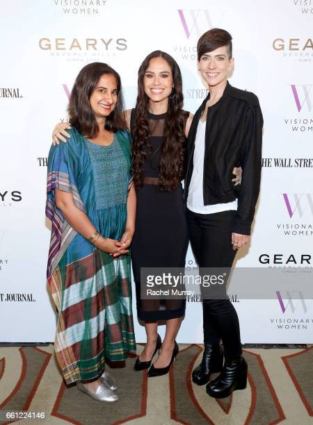 Panel Speakers Mallika Chopra Kimberly Snyder and Samantha Paige attend the Visionary Women's Salon Mind Body and Soul at Montage Beverly Hills on...