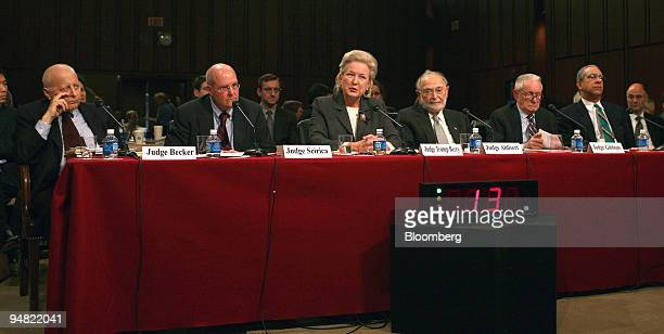 Panel Two at the Senate Judiciary Committee confirmation hearing on January 12 2006 for the open position as justice of the US Supreme Court The...