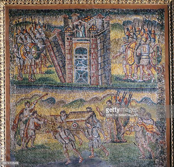Panel with mosaic central nave Basilica of Santa Maria Maggiore Rome Italy 5th century