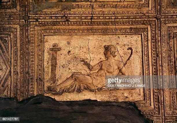 Panel with relief on the Decumanus Maximus Insula VI Herculaneum Campania Italy Roman civilisation 1st century AD