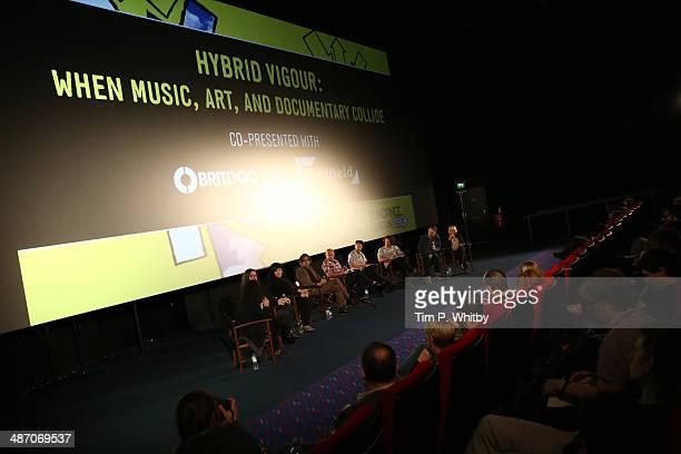 Panelist and moderator Tabitha Jackson, panellists Iain Forsyth, Jane Pollard, Jarvis Cocker, Martin Wallace, directors Edward Lovelace, James Hall...