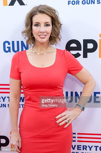 Panelist and Mothers Demand Action Founder Shannon Watts arrives at the Premiere Of EPIX's 'Under The Gun' at the Samuel Goldwyn Theater on May 3...