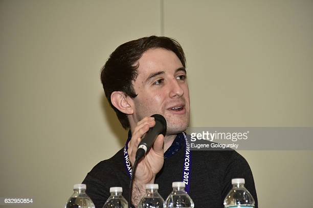 Panelist Joey Monda speaks at BroadwayCon 2017 at The Jacob K Javits Convention Center on January 28 2017 in New York City