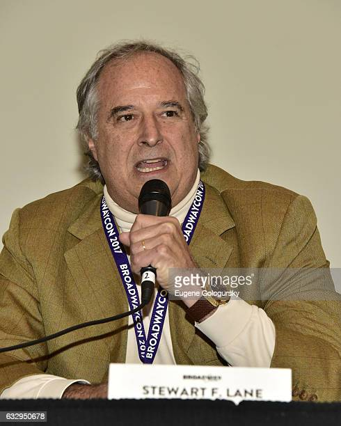 Panelist Stewart F Lane speaks at BroadwayCon 2017 at The Jacob K Javits Convention Center on January 28 2017 in New York City