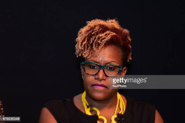 Panelist Tia Smith, Exec. In Charge of Production and Sr. Dir. Of Programming and Production, TV One, after the screening of TV Ones Evidence of...