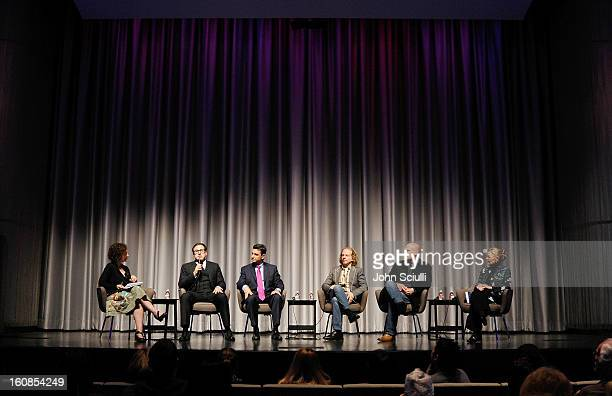 Panelists Alex Cohen David O Russell Dr Bruce Hensel Bruce Cohen Jake Clark and Rosemary Alden discuss removing the stigma of mental illness at...