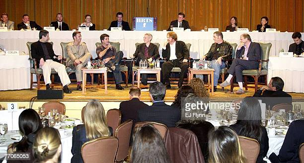"""Panelists at the HRTS Newsmaker Luncheon """"Reality Television"""": left to right, Robert Bianco, TV Critic, USA Today, Mark Burnett, executive producer,..."""