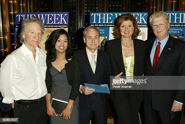 Panelist's Bill Maher Michelle Malkin Harold Evans Arianna Huffington and John Gibson attend the Week Magazine panel on Censorship or Common Decency...