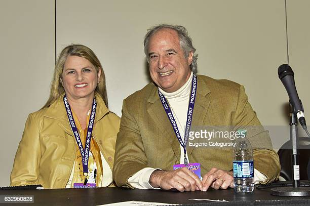 Panelists Bonnie Comley and Stewart F Lane speak at BroadwayCon 2017 at The Jacob K Javits Convention Center on January 28 2017 in New York City