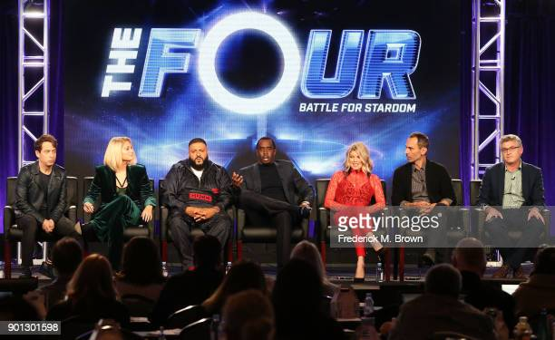 Panelists Charlie Walk Meghan Trainor DJ Khaled and Sean 'Diddy' Combs host Fergie and executive producers David Friedman and David Eilenberg of the...