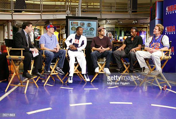 Panelists Ian Eagle Michael Rapaport Flex Alexander Adam Rodriquez Leon and Matthew Modine participate in Celebrity Panel discussion of the upcoming...