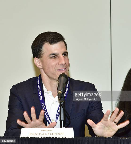 Panelists Ken Davenport speaks at BroadwayCon 2017 at The Jacob K. Javits Convention Center on January 27, 2017 in New York City.