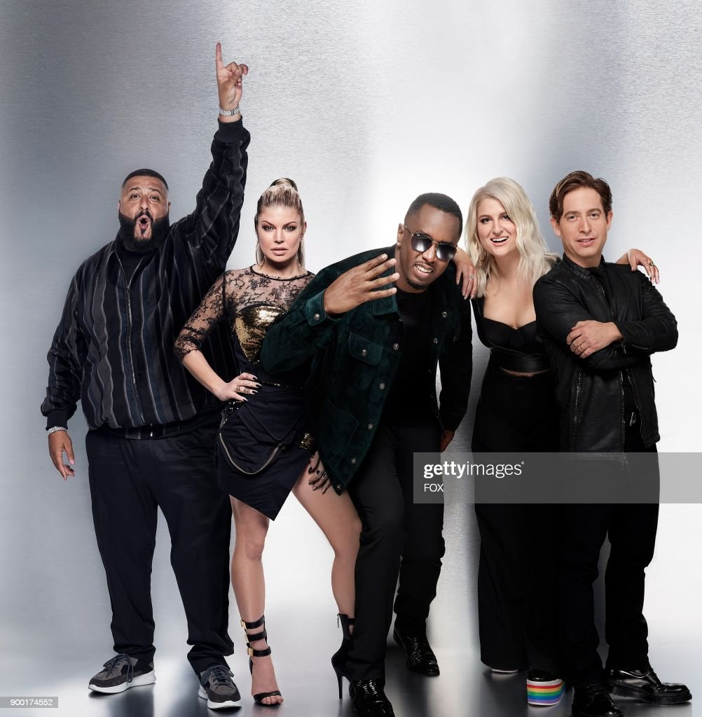 Panelists L-R: DJ Khalid, Fergie, Sean Diddy Combs, Meghan Trainor and Charlie Walk. Six-episode event