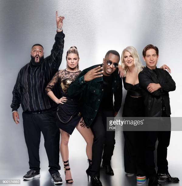 Panelists LR DJ Khalid Fergie Sean Diddy Combs Meghan Trainor and Charlie Walk Sixepisode event THE FOUR BATTLE FOR STARDOM premieres Thursday Jan 4...
