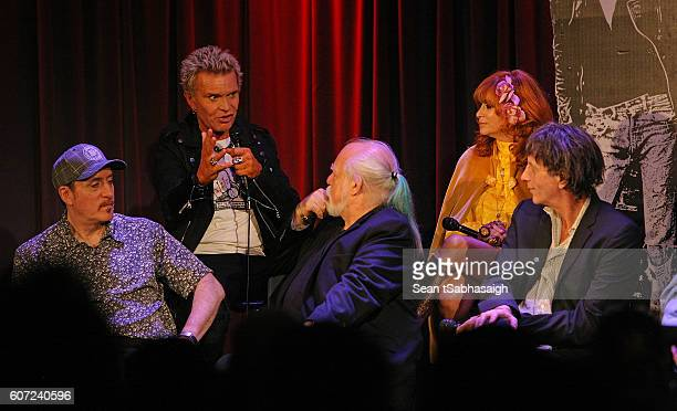 Panelists Monte A Melnick Billy Idol Ed Stasium Linda Ramone and Mickey Leigh discuss history and stories of The Ramones during the opening of the...
