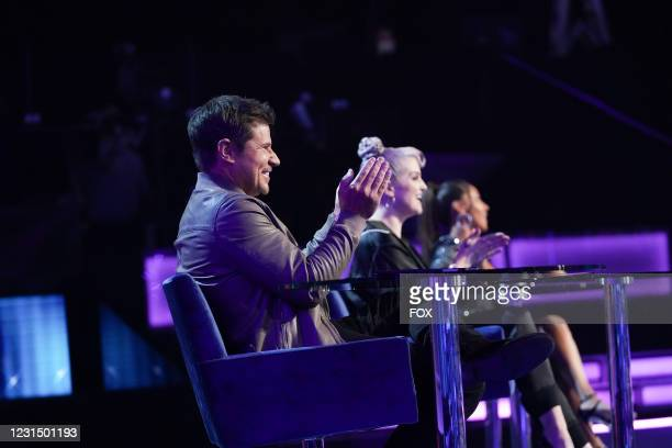Panelists Nick Lachey, Kelly Osbourne and Adrienne Bailon-Houghton in the series premiere episode of I CAN SEE YOUR VOICE airing Wednesday, Sept. 23...