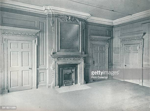 'Panelled room, first half of the eighteenth century Hatton Garden, E.C., showing the early Georgian style', 1907. This room interior was moved to...