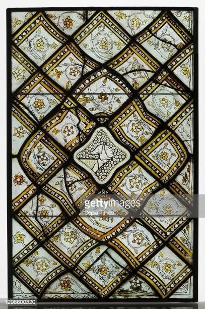 Panels of Grisaille Glass with Grostesques, ca. 1320–24, Made in Paris, France, French, White and pot-metal glass with vitreous paint, 22 13/16 x 17...