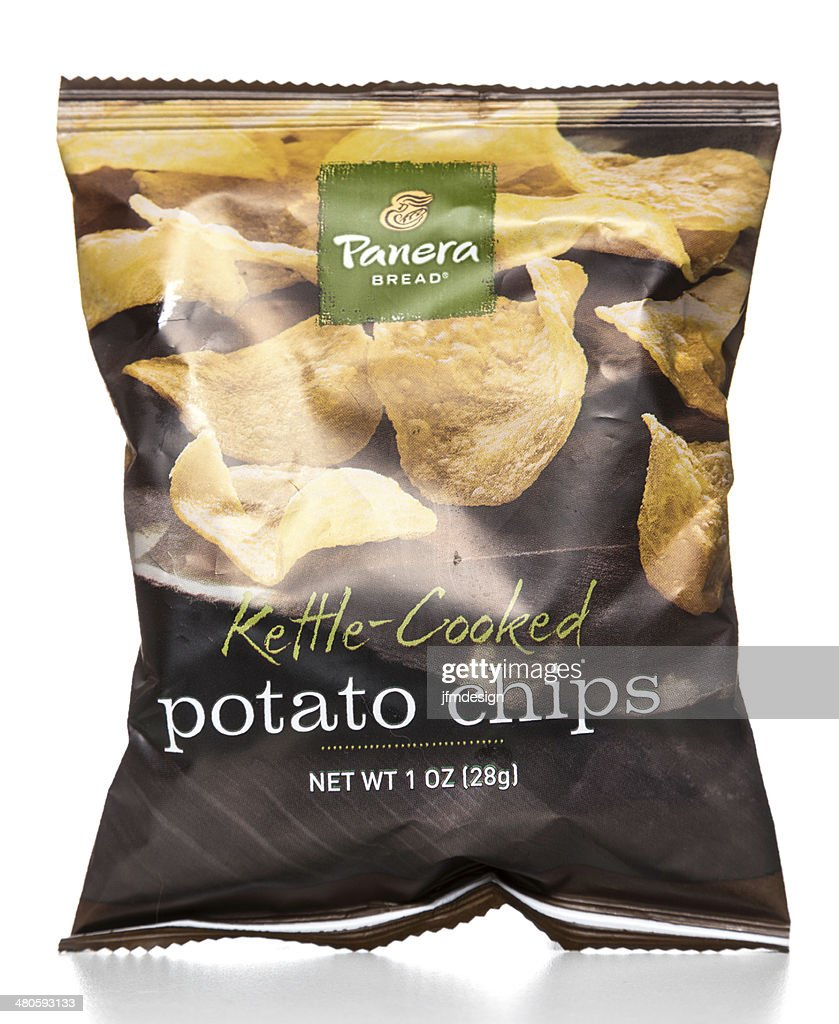 Panera Bread Kettle-Cooked potato chips package : Stock Photo