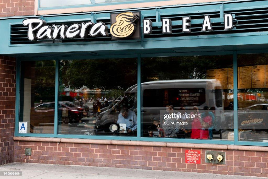Panera Bread Restaurant In Union Square In New York City News Photo