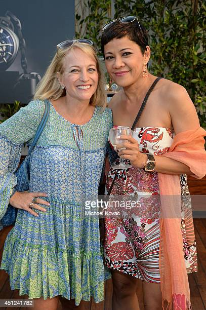 Panerai Public Relations Director Michele Gallagher and Serry Osmena attend the Panerai Summer 2014 Collectors Event at Mr C Beverly Hills on June 25...