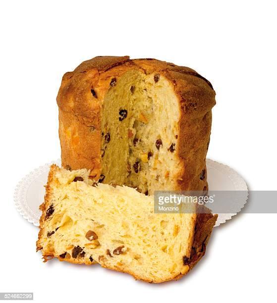 panettone is a traditional italian christmas cake - panettone foto e immagini stock