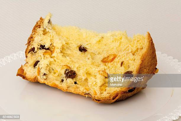 panettone is a traditional italian christmas cake - panettone stock pictures, royalty-free photos & images
