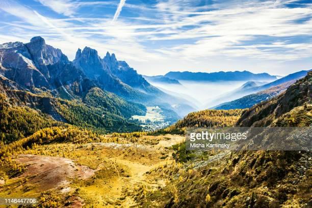paneveggio - pale di san martino natural park, dolomite alps, italy - riserva naturale parco nazionale foto e immagini stock